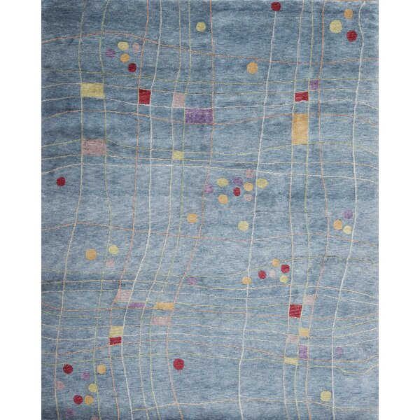 Plateau Hand Knotted Wool Blue/Gray Rug