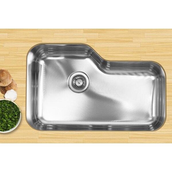 30 L x 19.25 W Undermount Single Bowl Stainless Steel Kitchen Sink by Ukinox