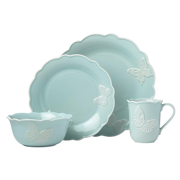 Meadow® Butterfly Carved 4 Piece Place Setting, Service for 1 by Lenox