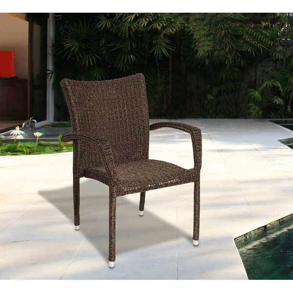 Tryston Stacking Patio Dining Chair by Beachcrest Home