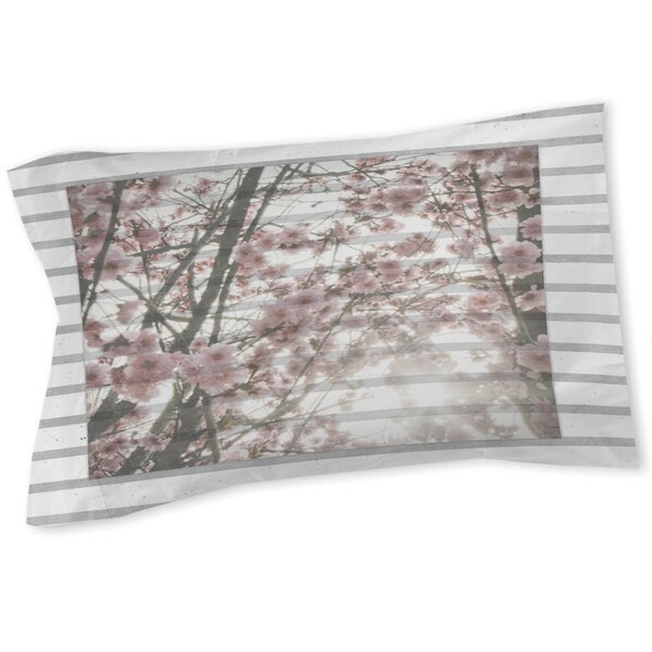 Cherry Blossom Stripes Sham by Manual Woodworkers & Weavers