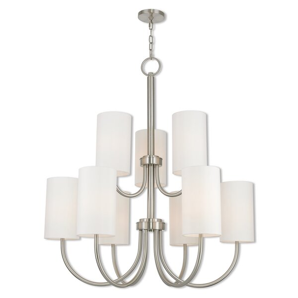 Delphi 9-Light Shaded Tiered Chandelier By Darby Home Co