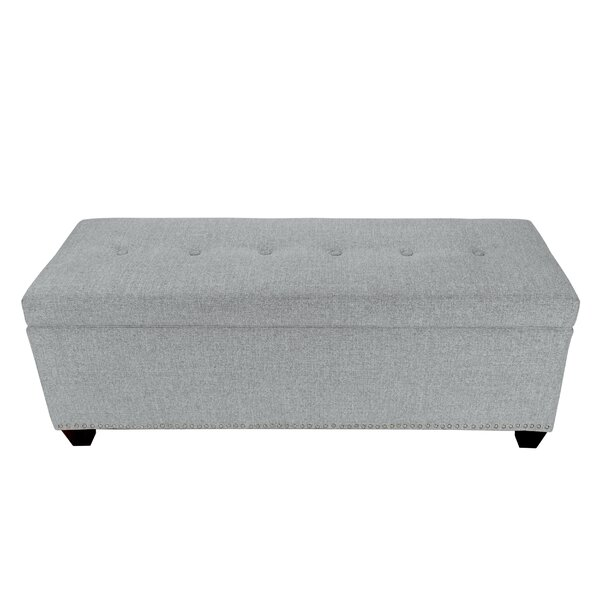 Woodside Upholstered Storage Bench by Millwood Pines Millwood Pines