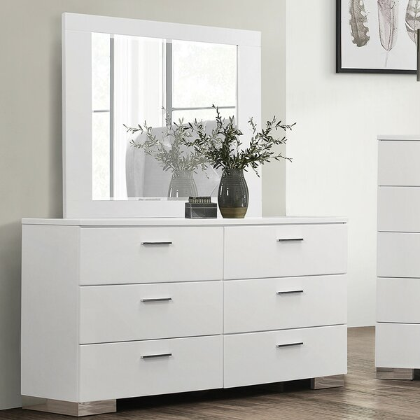 Mcmillion 6 Drawer Double Dresser with Mirror by Mercer41