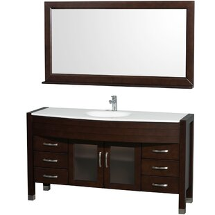Affordable Price Daytona 60 Single Espresso Bathroom Vanity Set with Mirror By Wyndham Collection