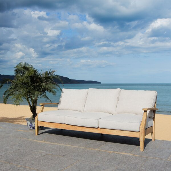 Ducan Patio Sofa with Sunbrella Cushions by Highland Dunes Highland Dunes