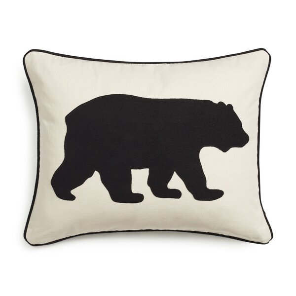 Bear Cotton Lumber Pillow by Eddie Bauer