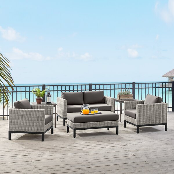 Stefani 4 Piece Sofa Seating Group with Cushions by Latitude Run