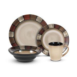Taos 16 Piece Dinnerware Set, Service for 4