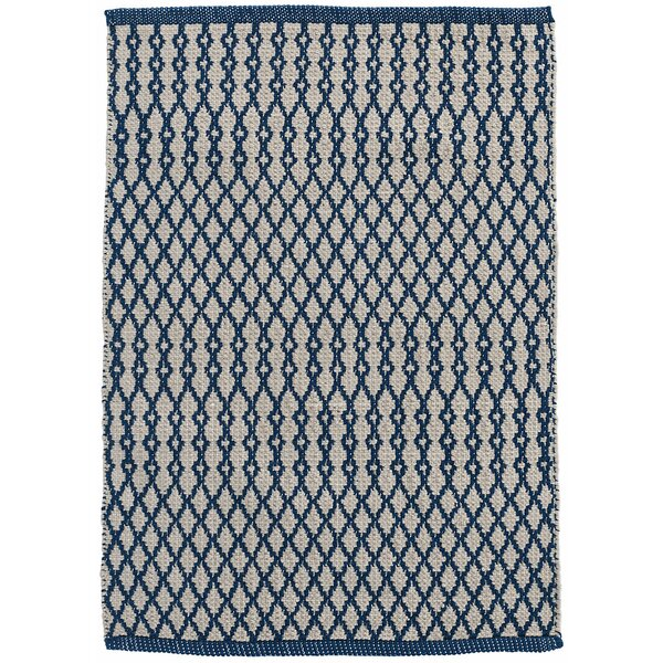 Harvey Hand-Woven Blue Indoor/Outdoor Area Rug by Dash and Albert Rugs