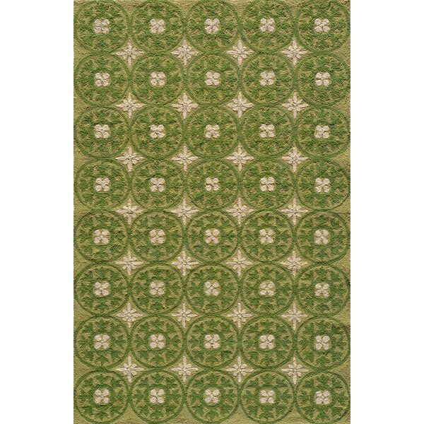 St James Hand-Hooked Grass Green Indoor/Outdoor Area Rug by Charlton Home
