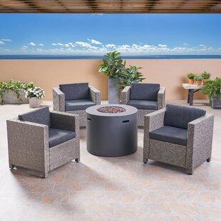 Kampmann Outdoor 5 Piece Rattan Sofa Seating Group with Cushions ByBrayden Studio