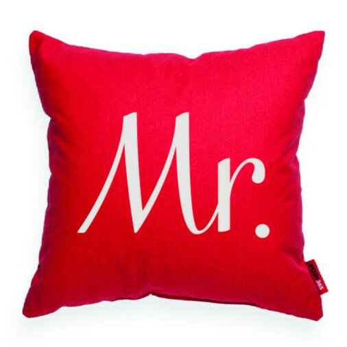 Expressive Mr Decorative Throw Pillow by Posh365