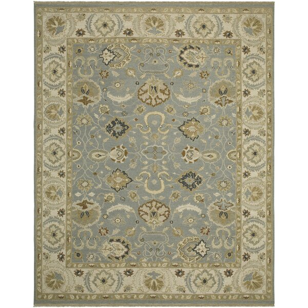 Cowden French Blue/Ivory Area Rug by Alcott Hill
