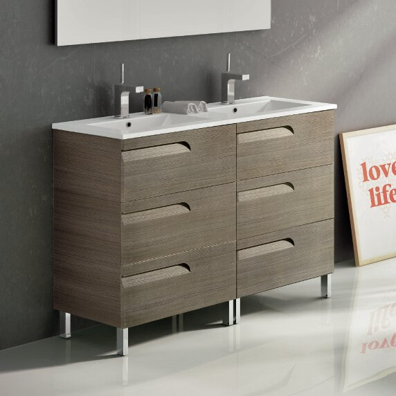 Oberlin 48 Double Bathroom Vanity Set by Brayden Studio