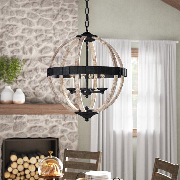 Closter 4 - Light Unique Globe Chandelier By Gracie Oaks