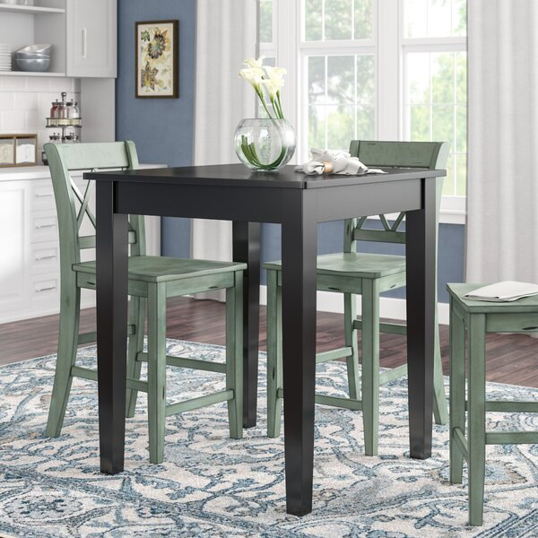 Haslingden Tapered Leg Counter Height Pub Table by Three Posts
