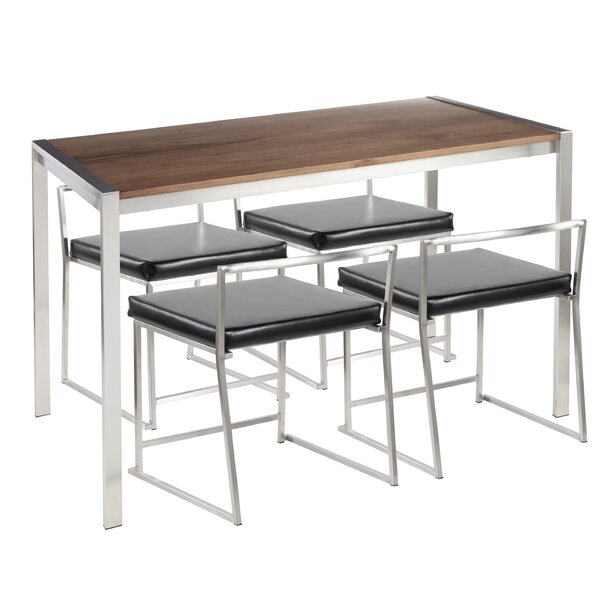 Gary Contemporary 5 Piece Dining Set by Wade Logan