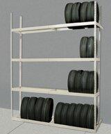 Rivetwell Tire Storage 120 H 4 Shelf Shelving Unit Starter by Hallowell