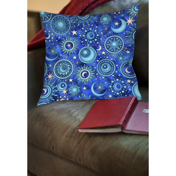 Celestial Medallions Printed Throw Pillow by Manual Woodworkers & Weavers