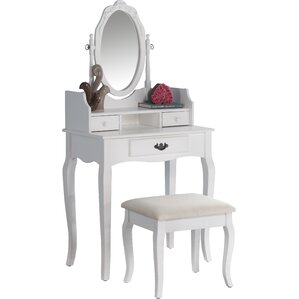 Frederica Makeup Vanity Set With Mirror