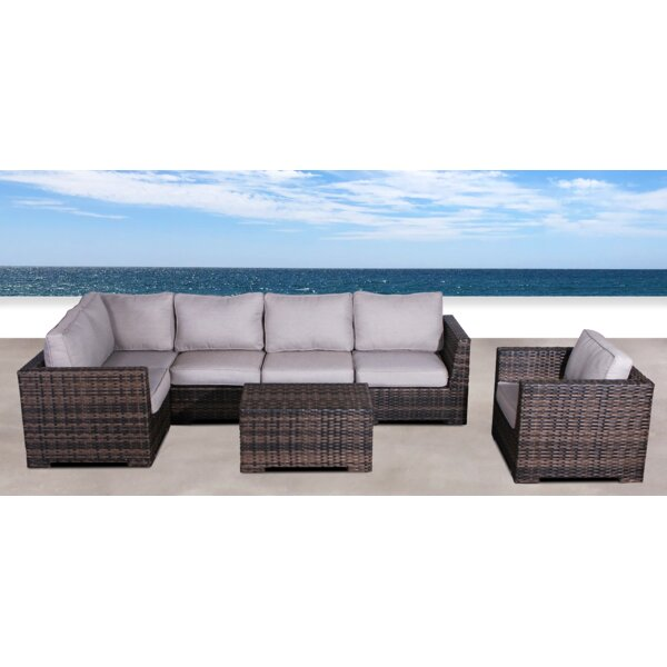Letona Resort 3 Piece Rattan Sectional Seating Group with Cushions by Sol 72 Outdoor