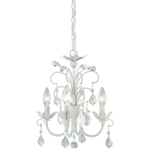 Beal 4 - Light Candle Style Classic / Traditional Chandelier by Lark Manor Lark Manor
