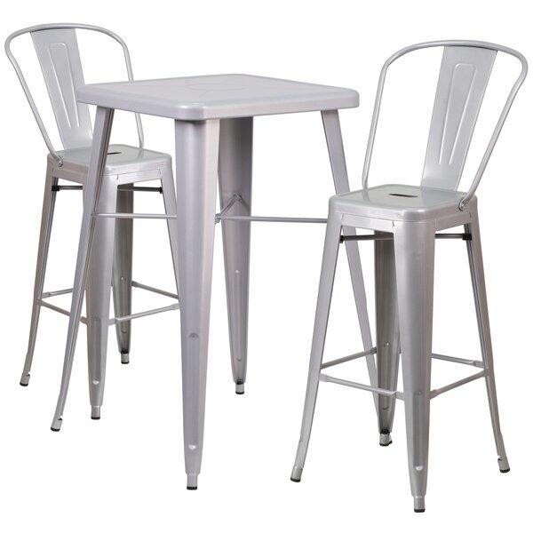 Suruga 3 Piece Pub Table Set by Mercury Row