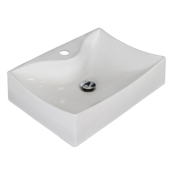 Ceramic 22 Wall Mount Bathroom Sink by American Imaginations