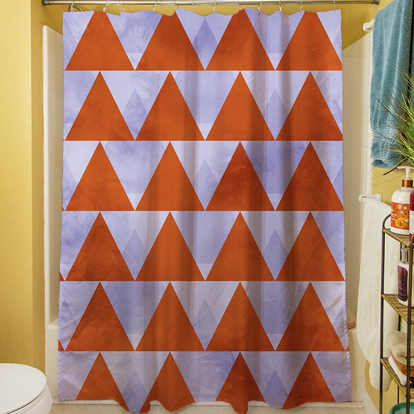 Triangles Shower Curtain by Manual Woodworkers & Weavers