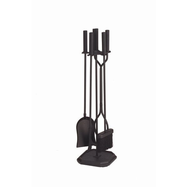 4 Piece Iron Fireplace Tool Set II by Minuteman International