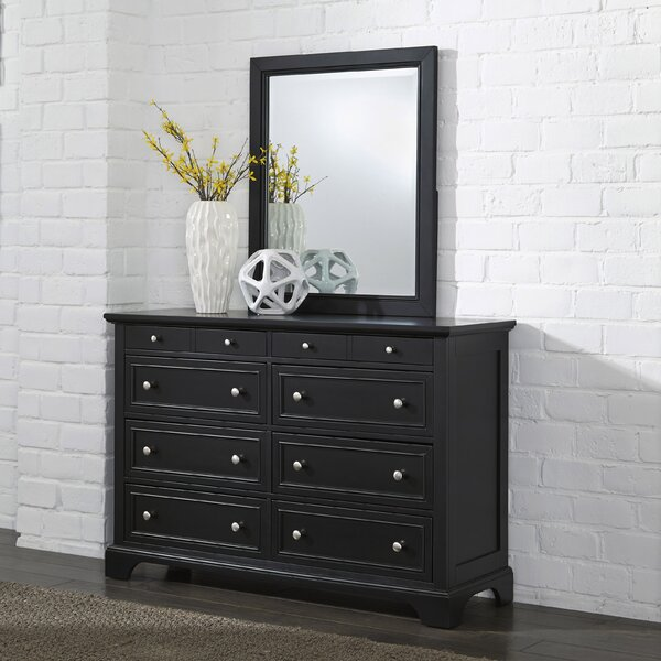 Cusick 8 Drawer Dresser with Mirror by Three Posts