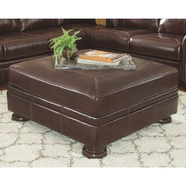Ryan Leather Ottoman by Trent Austin Design