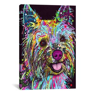 'Yorkie' Graphic Art on Canvas by Viv + Rae
