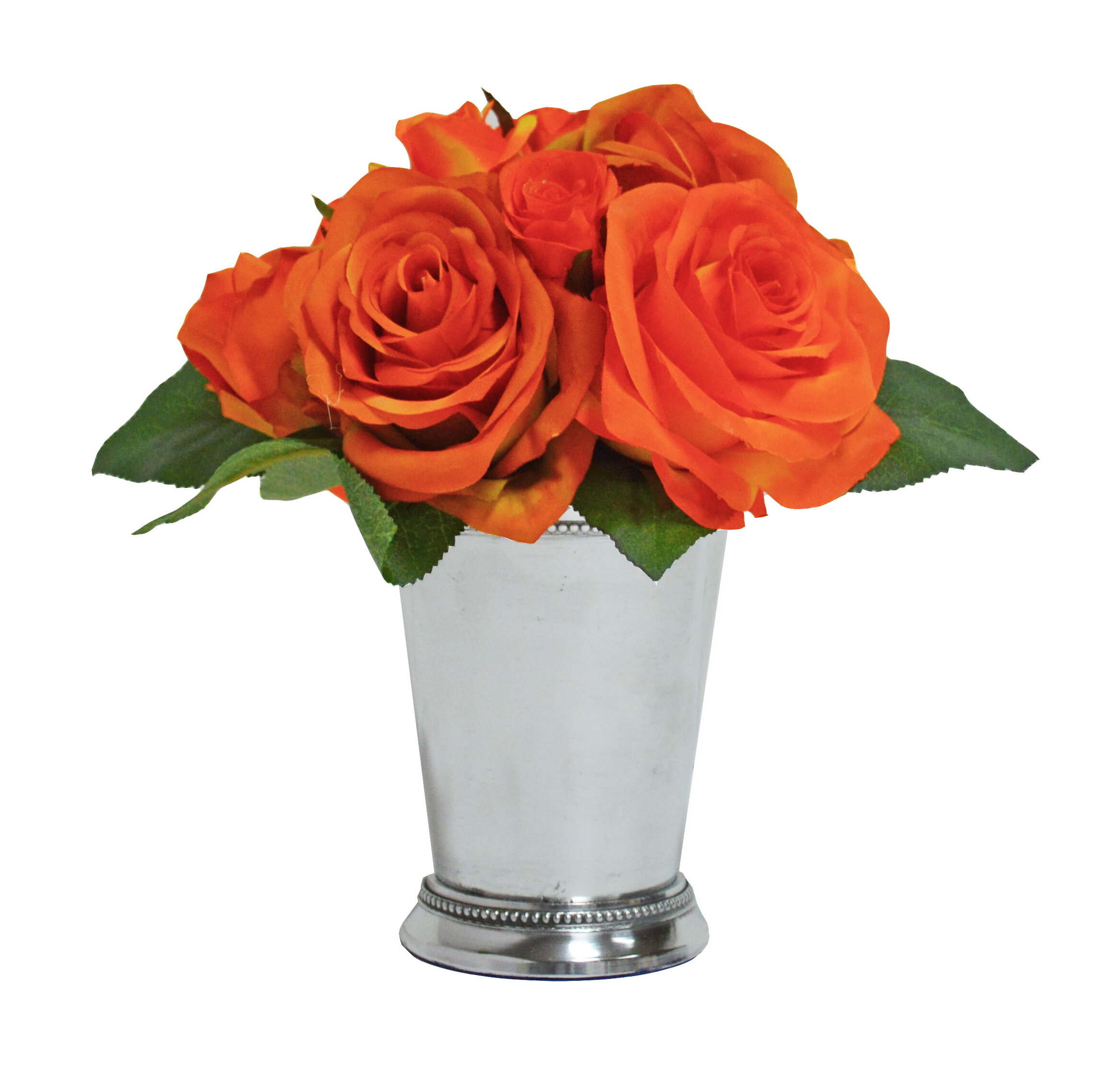 Tree masters inc rose bouquet in mint julep cup reviews wayfair reviewsmspy