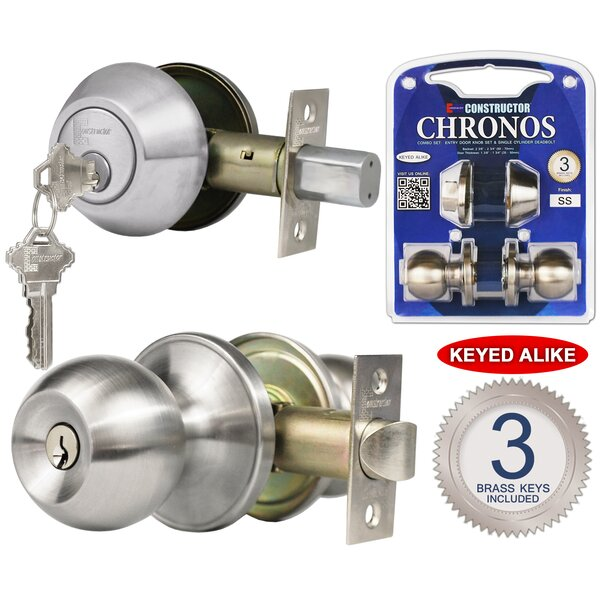 Constructor Chronos Single Cylinder Entrance Knobset by DSD Group