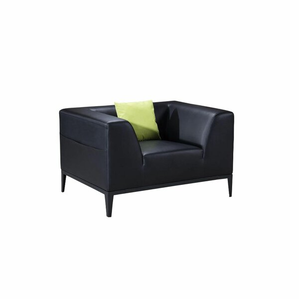 Hayfield Faux Leather Upholstered Armchair by Orren Ellis