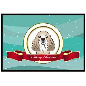 Cocker Spaniel Merry Christmas Doormat