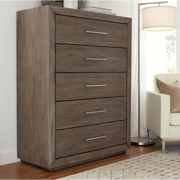 Gumpert 5 Drawers Dresser by Wrought Studio