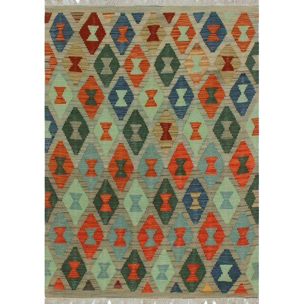 One-of-a-Kind Priston Hand-Woven Wool Green Area Rug by Loon Peak