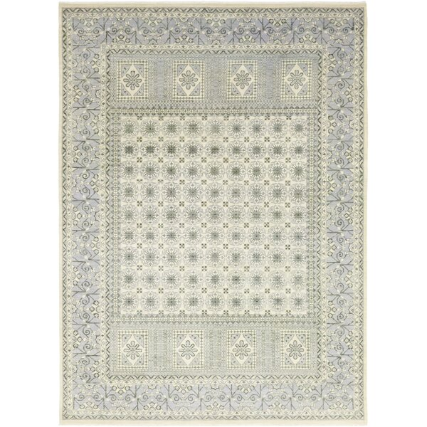 One-of-a-Kind Dia Hand-Knotted Wool Ivory Indoor Area Rug by Isabelline