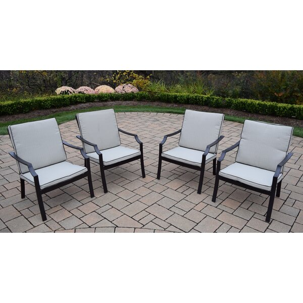Stackable Deep Seating Chat Chair with Cushion (Set of 4) by Oakland Living