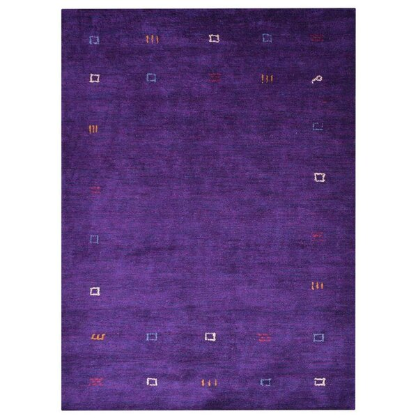 Auerbach Hand-Knotted Silk Purple Area Rug by Bloomsbury Market