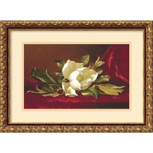 'The Magnolia Flower' by Martin Johnson Heade Framed Painting Print by Amanti Art