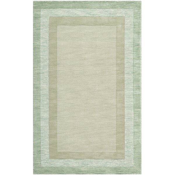 Frederica Green/Beige Area Rug by Highland Dunes