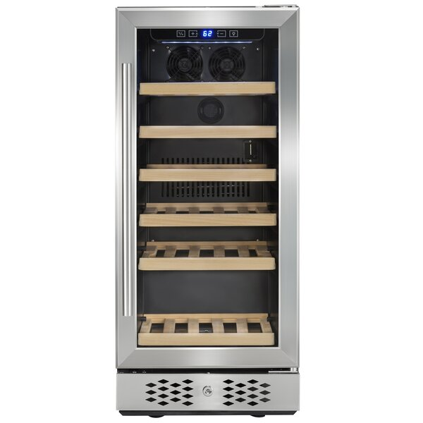 30 Bottle Compressor Single Zone Built-In Wine Cooler by AKDY