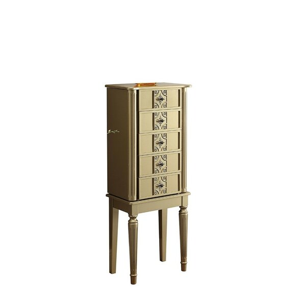Maeda Free Standing Jewelry Armoire with Mirror by House of Hampton