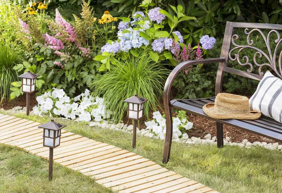 Plow Amp Hearth Blooming Iron Garden Bench Amp Reviews Wayfair