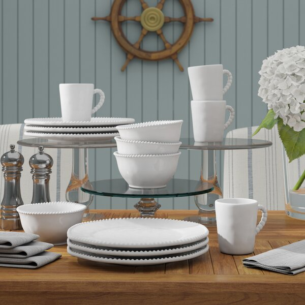 Bonham 16 Piece Dinnerware Set, Service for 4 by Beachcrest Home