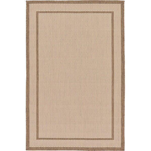 Storrs Beige Outdoor Area Rug by Andover Mills